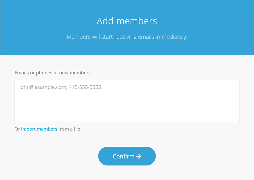 No member login required