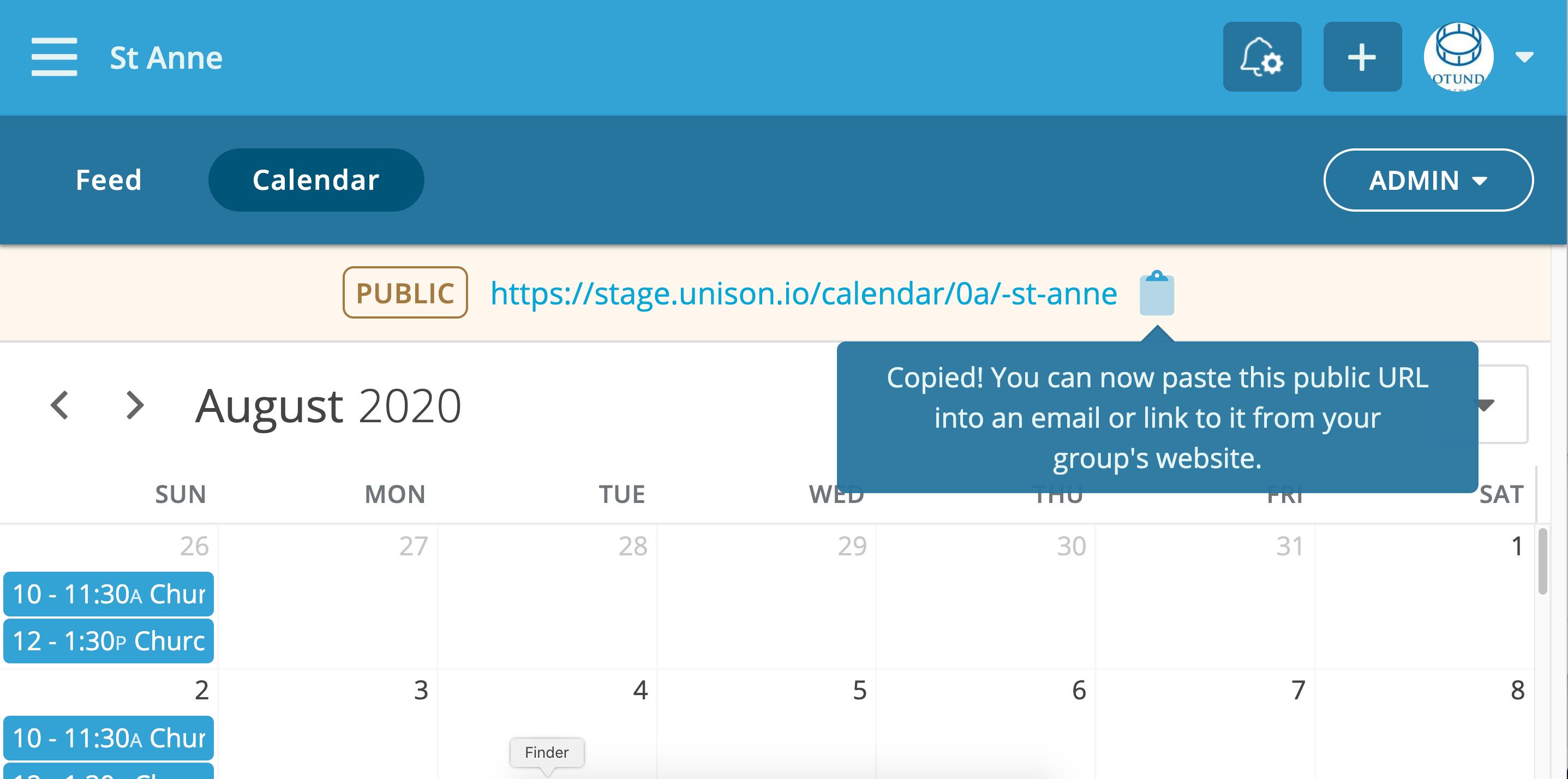 Share your calendar