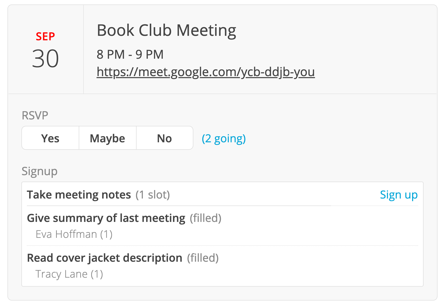 Better support for virtual events